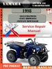 Thumbnail Yamaha ATV YFM 250 X Beartracker 1998 Digital Service Repair