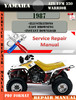 Thumbnail Yamaha ATV YFM 350 Warrior 1987 Digital Service Repair Manua