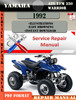 Thumbnail Yamaha ATV YFM 350 Warrior 1992 Digital Service Repair Manua
