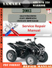 Thumbnail Yamaha ATV YFM 350 Warrior 2003 Digital Service Repair Manua