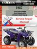 Thumbnail Yamaha ATV YFM 350 Wolverine 1987 Digital Service Repair Man