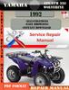 Thumbnail Yamaha ATV YFM 350 Wolverine 1992 Digital Service Repair Man