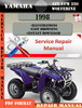Thumbnail Yamaha ATV YFM 350 Wolverine 1998 Digital Service Repair Man
