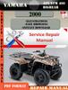 Thumbnail Yamaha ATV YFM 400 Bigbear 2000 Digital Service Repair Manua