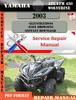 Thumbnail Yamaha ATV YFM 450 Wolverine 2003 Digital Service Repair Man
