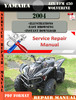 Thumbnail Yamaha ATV YFM 450 Wolverine 2004 Digital Service Repair Man