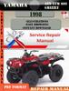 Thumbnail Yamaha ATV YFM 600 Grizzly 1998 Digital Service Repair Manua