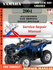Thumbnail Yamaha ATV YFM 660 Grizzly 2004 Digital Service Repair Manua