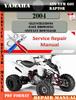 Thumbnail Yamaha ATV YFM 660 Raptor 2004 Digital Service Repair Manual