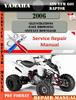 Thumbnail Yamaha ATV YFM 660 Raptor 2006 Digital Service Repair Manual