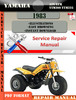 Thumbnail Yamaha ATV YFM YTM200 YTM225 1983 Digital Service Repair Man