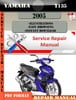 Thumbnail Yamaha T135 2005  Digital Factory Service Repair Manual Pdf
