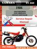 Thumbnail Yamaha TT350 1986 Digital Factory Service Repair Manual