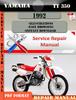 Thumbnail Yamaha TT350 1992 Digital Factory Service Repair Manual