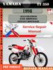 Thumbnail Yamaha TT350 1998 Digital Factory Service Repair Manual