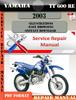 Thumbnail Yamaha TT600RE 2003 Digital Factory Service Repair Manual
