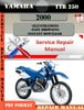 Thumbnail Yamaha TTR250 2000 Digital Factory Service Repair Manual