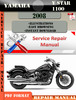 Thumbnail Yamaha V Star 1100 2008 Digital Factory Service Repair Manua