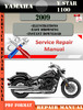 Thumbnail Yamaha V Star 1100 2009 Digital Factory Service Repair Manua