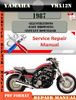 Thumbnail Yamaha VMX12N 1987 Digital Factory Service Repair Manual