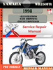 Thumbnail Yamaha WR250FR 1998 Digital Service Repair Manual