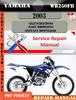 Thumbnail Yamaha WR250FR 2003 Digital Service Repair Manual