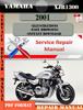 Thumbnail Yamaha XJR1300 2001 Digital Service Repair Manual