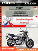Thumbnail Yamaha XJR1300 2002 Digital Service Repair Manual
