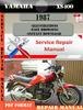 Thumbnail Yamaha XS400 1987 Digital Service Repair Manual