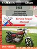 Thumbnail Yamaha XS650 1981 Digital Service Repair Manual