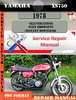 Thumbnail Yamaha XS750 1978 Digital Service Repair Manual