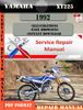 Thumbnail Yamaha XT225 1992 Digital Service Repair Manual