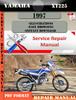 Thumbnail Yamaha XT225 1997 Digital Service Repair Manual