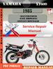 Thumbnail Yamaha XT600 1985 Digital Service Repair Manual