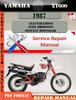 Thumbnail Yamaha XT600 1987 Digital Service Repair Manual