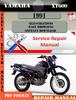 Thumbnail Yamaha XT600 1991 Digital Service Repair Manual