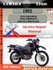 Thumbnail Yamaha XT600 1992 Digital Service Repair Manual