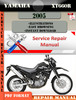 Thumbnail Yamaha XT660R 2005 Digital Service Repair Manual