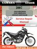 Thumbnail Yamaha XT660R 2007 Digital Service Repair Manual