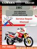 Thumbnail Yamaha XTZ750 1997 Digital Service Repair Manual