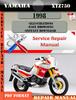 Thumbnail Yamaha XTZ750 1998 Digital Service Repair Manual
