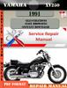 Thumbnail Yamaha XV250 1991 Digital Service Repair Manual