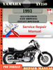 Thumbnail Yamaha XV250 1993 Digital Service Repair Manual
