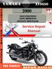 Thumbnail Yamaha XVS650 2000 Digital Service Repair Manual