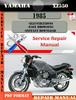 Thumbnail Yamaha XZ550 1985 Digital Service Repair Manual