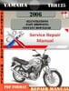 Thumbnail Yamaha YBR125 2006 Digital Service Repair Manual