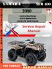 Thumbnail Yamaha YFM 400 2000 Digital Repair Manual