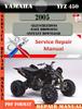 Thumbnail Yamaha YFZ 450 2005 Digital Service Repair Manual