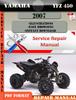 Thumbnail Yamaha YFZ 450 2007 Digital Service Repair Manual