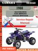 Thumbnail Yamaha YFZ350 1988 Digital Service Repair Manual